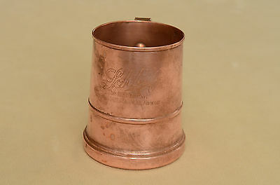 Vintage Schlitz Copper Cup 80 th Anniversary Milwaukee Famous Beer