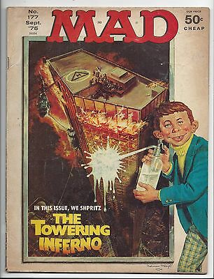 MAD Magazine TOWERING INFERNO from September 1975 # 177 in VG to Fine shape.