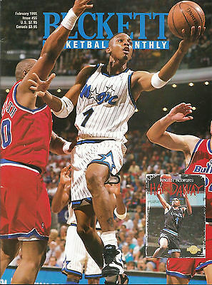 Beckett Basketball Monthly #55 (Feb. 1995) FN Penny Hardaway, Moses Malone,