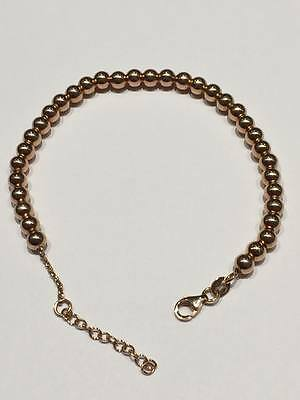 Sterling silver 925 ROSE GOLD PLATED ball chain bracelet GOY308