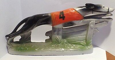 Rare Antique Porcelain Tacing Greyhound Made in Germany C.1900
