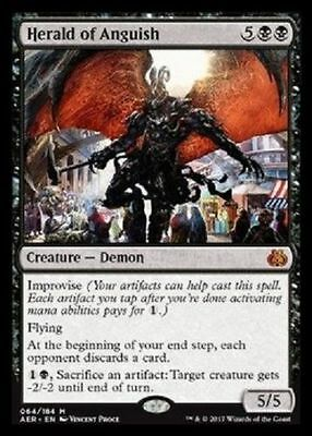 ^ PREORDER Magic the Gathering - Herald of Anguish - MTG Mythic - Aether Revolt