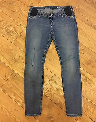 GAP Maternity Under Bump Skinny Jeans Size 12 (US 8) Blue Excellent Condition