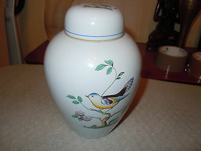 "spode ""queens bird"" large ginger jar with cover RARE"
