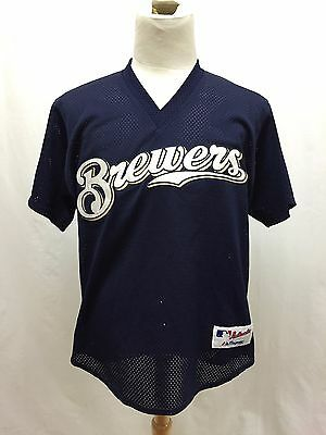 53083daad Vintage Milwaukee Brewers Stitched Majestic MLB Jersey Size Large Made In  U.S.A.