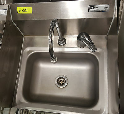 John Boos Stainless Steel Single Commercial Hand Sink Wall Mount