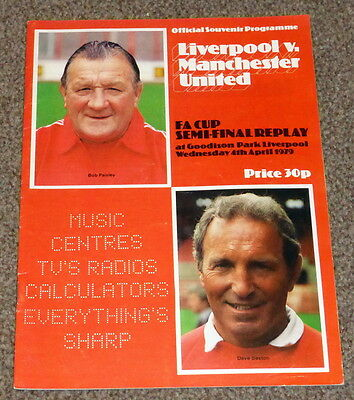 Fa Cup Semi-Final Replay 1979 Liverpool V Manchester United Programme - Exc Cond