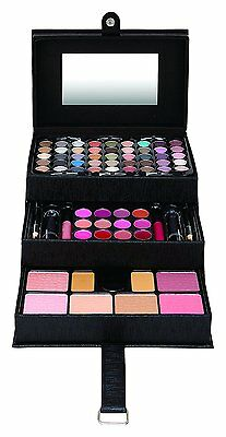 82 Piece Vanity Case Beauty Cosmetic Set Gift Make Up Storage Box Valentines Day