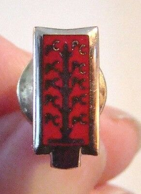 Vintage 10k Gold 10 Year Employee Service Pin PC Red Enamel Thermometer