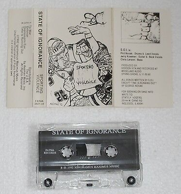 State Of Ignorance - Sporting Violence Demo '92 Tape / Hardcore / Death Metal
