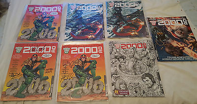 2000ad prog 2000 Signed Collection