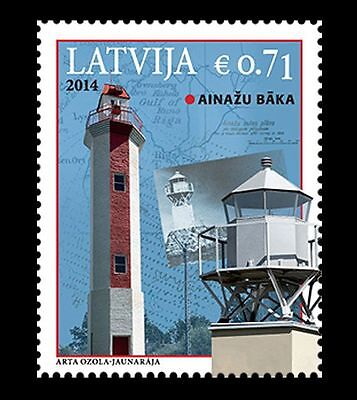 2014 Latvia  - Ainazu Lighthouse. Sg 915 Unmounted Mint