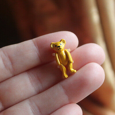 KP NM Dollhouse Miniature Yellow Teddy Bear Toy 1:12 scale 2 cm Tall