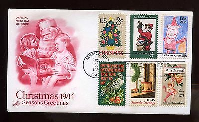 US SUPER FRANKED First Day COMBO cover 1984 Christmas