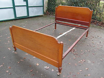 Vintage Bed with Carved Mahogany Bed ends and foot end Feet