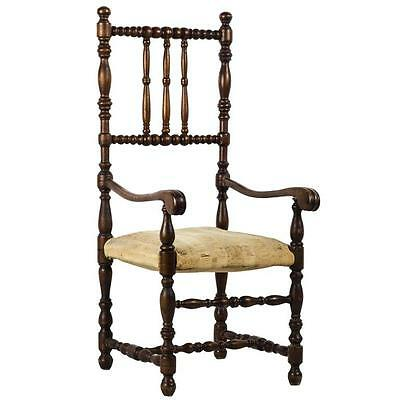 Louis XIII Style Doll's Walnut Open Armchair Furniture France