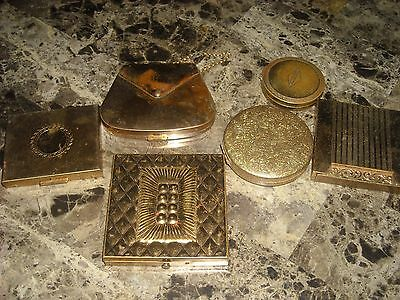 Vintage Compact Cases/ picture holder. lot of 6
