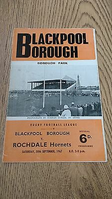 Blackpool Borough v Rochdale Hornets 1967 Rugby League Programme