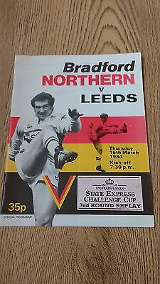 Bradford Northern v Leeds 1984 Challenge Cup Rugby League Programme