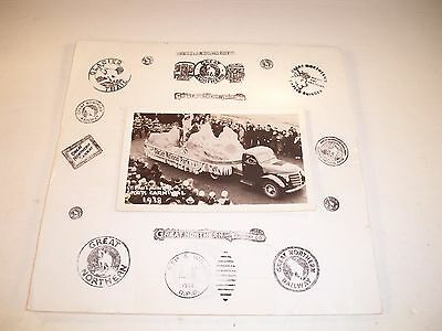 1938 GNP St Paul Winter Sports Carnival UNUSED Black and White RPPC Post Card