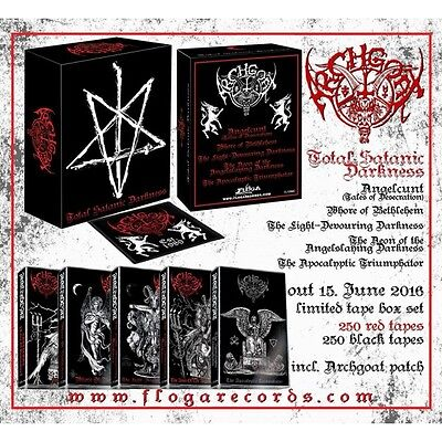 Archgoat - Total Satanic Darkness + Patch (Fin), Tape Box Set