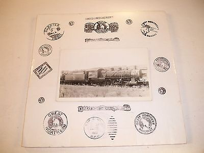 1936 GN Steam Engine #1524 at Seattle, WA UNUSED Black and White RPPC Post Card