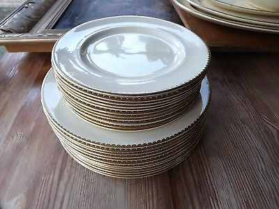 24 LUNCHEON & SALAD PLATES  SUNBUFF GRAYS POTTERY 1930's-1940's SEE DESCRIPTION