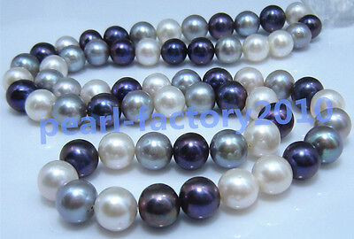 "17"" AAA 9-10MM  NATURAL  PEARL NECKLACE 14K gold"