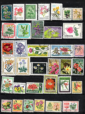 Flowers Collection of stamps