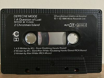 Depeche Mode. A Question Of Lust. Cassette Single. Rare. CBONG11. 1986.