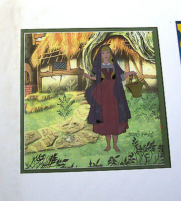 1959 Disney Sleeping Beauty-Briar Rose Production Cel-Signed-Marc Davis-Scarce!