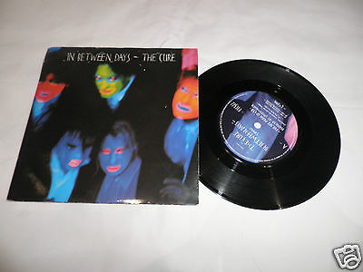 """the cure in between days 7"""" record gothic punk new wave"""