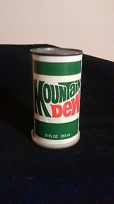 vintage Mountian Dew Advertising can with t-shirt inside