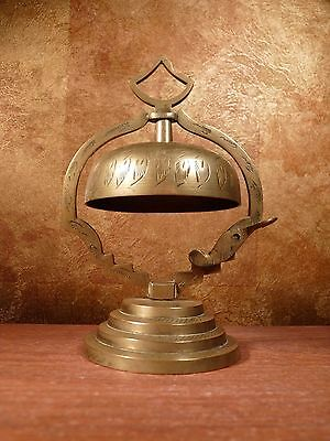 Vintage Brass Desk Bell from India