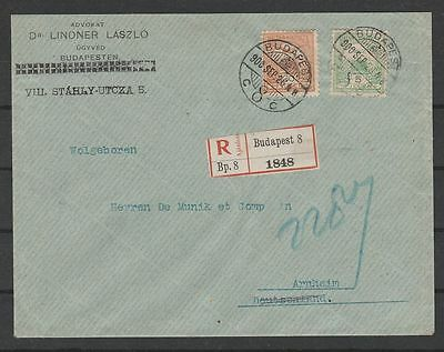 Hungary 1900 Budapest R cover to Holland