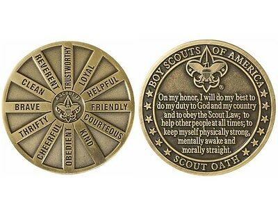 Boy Scout Oath & 12 Points Law Coin & Vinyl Case *New! * Official BSA-Great Gift