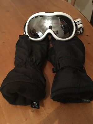 Ski Mittens And Goggles