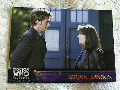 Topps Doctor Who 2016 Gold Parallel Base Card 48 School Reunion 1/1