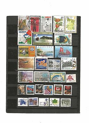 30 timbres continent americain lot 06012017  ame 333