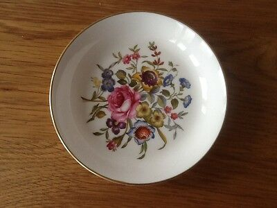 Royal Worcester Floral Coaster/Pin Dish (Bournemouth Design)