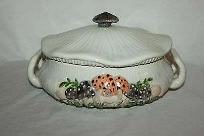 Cute Vintage Arnel's Mushroom Soup Tureen Casserole Dish With Lid