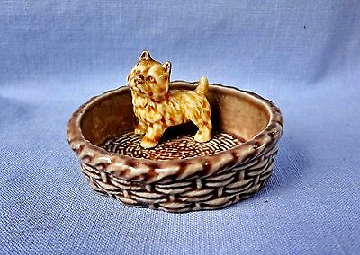 WADE CAIRN TERRIER PUPPY STANDING  Pin Dish Made In England