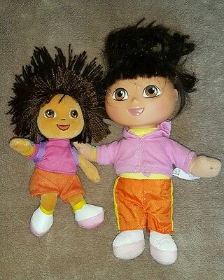 Dora the Explorer talking doll and soft doll