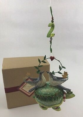 NEW Krinkles Patience Brewster 2 Two Turtle Doves Ornament 12 Days of Christmas