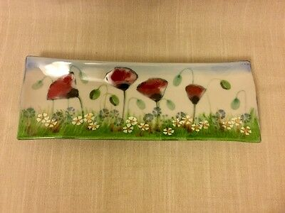 Highland Stoneware Poppy Meadow Rectangular Plate
