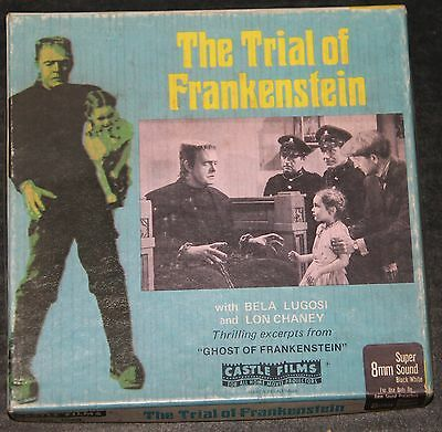 Super 8 The Trial of Frankenstein Sonido Inglés 60m 200' OB
