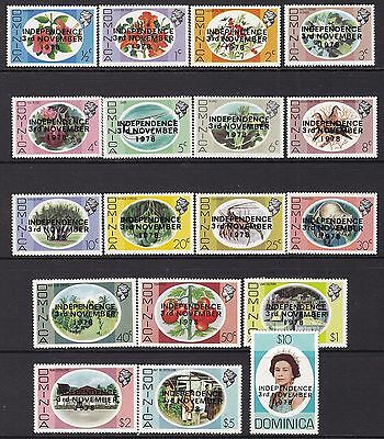 Dominica 1978-79 Independence Set, Unmounted Mint, Cat £13.50