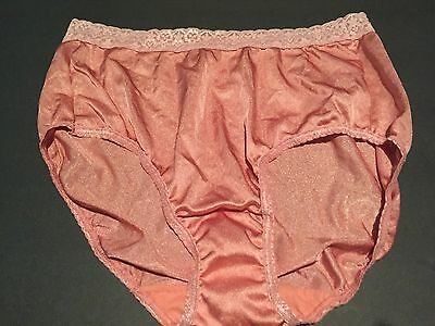 Vintage New Pink Satin Sissy Hi Cut Bikini Brief Panties