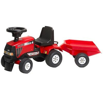 #sNew FALK Ride-on Tractor w/Trailer Red 1/3 Kids Outdoor Baby Cars Fun Play Toy