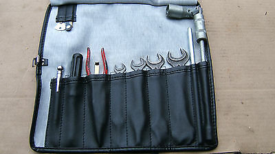 Jaguar E Type series 3 tool kit in a new tool roll with jaguar supplied tools
